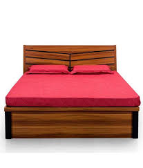 Log Bed Frames Queen Awesome Royaloak Iris Queen Bed with Hydraulic ...