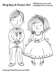 Small Picture Girl and boy coloring page