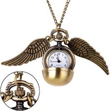 details about harry potter gold snitch pocket watch pendant necklace steampunk wings us