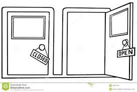 open door pencil drawing. Close Open Door Pencil Drawing