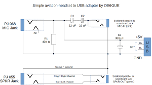 aviation headset jack wiring diagram blog aviation headset to usb adapter aviationheadset2usb schematic png
