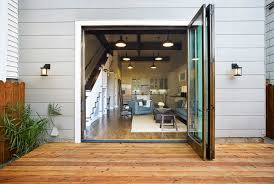 contemporary patio inspiration of accordion glass doors patio with plain folding french intended decorating ideas with