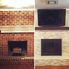 need a new look in your living room try refacing the fireplace beforeandafter
