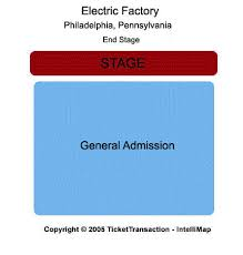 The Electric Factory Seating Chart Electric Factory Seating Chart