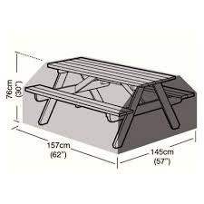 protector 6 seater picnic table cover 157cm
