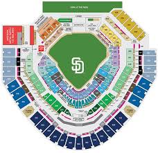 Saints Season Tickets Price Chart Petco Park Seating Map San Diego Padres Game Tickets