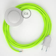 wiring pedestal rf10 neon yellow rayon 3 m choose the colour of the switch and plug