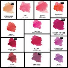 Younique Shade Chart Younique Cosmetics By Lee Original Lip Stain Colour Chart