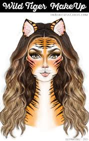wild tiger makeup look