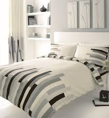 grey black cream block printed double duvet cover bed set co uk kitchen home