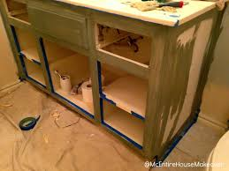 Painted Bathroom Cabinets Mcentire House Makeover How To Paint Bathroom Cabinets
