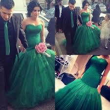 Emerald Green Wedding Dress Malaysia