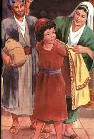 Figurando: Samuel, Elcana e Ana