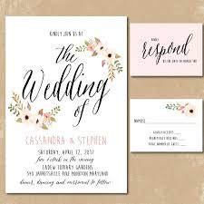 invitations to print free printable floral invitations watercolor wedding invitation print