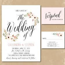 Print Your Own Invites Printable Floral Invitations Watercolor Wedding Invitation