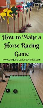 Wooden Horse Race Game Pattern How to make a Horse Racing Game Race games Horse and Unique 67