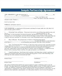 Agreement Templates Business Contract Template Sample Business Partnership Contract Toptier Business