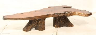 Coffee Table Tree Wooden Slab Table Wood Slab Coffee Table Industrial Black Steel