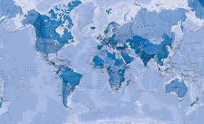 High Quality World Map World Map Blue