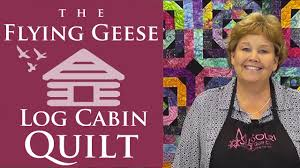 The Flying Geese Log Cabin Quilt: Easy Quilting Tutorial with ... & The Flying Geese Log Cabin Quilt: Easy Quilting Tutorial with Jenny Doan of  Missouri Star Quilt Co - YouTube Adamdwight.com
