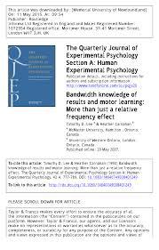 pdf cognitive effort and motor learning