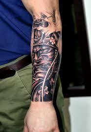 Really Incredible Forearm Tat Tattoos Samurai Mask Tattoo