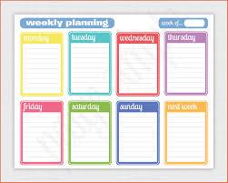 Printable Weekly Calendar Free Printable Weekly Calendar Bio Example 23