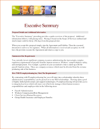 Executive Summary Word Template Business Plan Sample Of Example For
