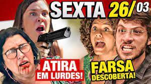 AMOR DE MÃE - Capítulo 26/03 SEXTA - Resumo da novela Amor de Mãe hoje  completo Atira na Lurdes - YouTube