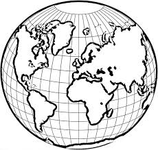 World Globe Coloring Page - Education - Simple World Map Coloring ...