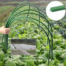 4ft long steel with plastic coated hoops greenhouse hoops for plant cover support grow
