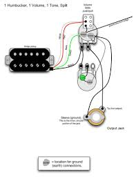Wiring Diagrams For Split Humbuckers 1 Volume 1 Tone 2 Volume 1 Tone Wiring for Guitar