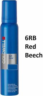 Goldwell 6rb Colour Chart Goldwell Soft Color Foam Tint 6rb Red Beech 125 Ml