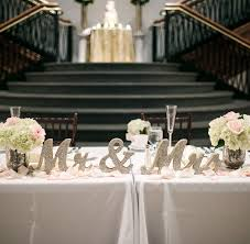 Classy sweetheart table ideas for the bride and groom - Mr & Mrs - 2016 and