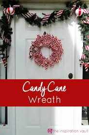 10 Creative Christmas Deco Mesh Wreath Ideas  Deco Mesh Candy Candy Cane Wreath Christmas Craft