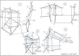 Лист Преобразование комплексного чертежа  Рисунок 5 Образец выполнения второго листа контрольно графической работы №1 на тему Преобразование комплексного чертежа