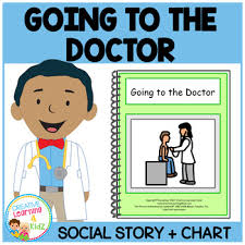 Doctor Chart Social Story Going To The Doctor Book Medical Board Chart Autism
