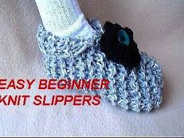 Knitted Slippers Pattern With Two Needles
