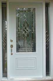 soft gray wooden single door with glass on the middle and silver steel handler between narrow