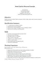 Grocery Store Cashier Resume Fresh Receptionist Cashier Resume