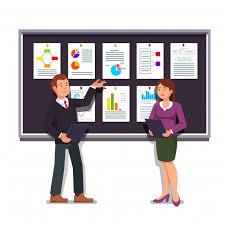 Entrepreneurs Presenting Start Up Business Plan Vector Free Download