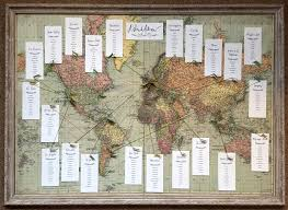 World Map Wedding Seating Chart Heres One I Made Earlier World Map Seating Plan