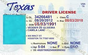 Template Fake Scannable Id Identification Texas Buy