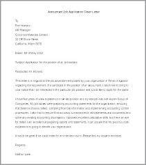 Sample Application Letter For Accountant Post Letter Of