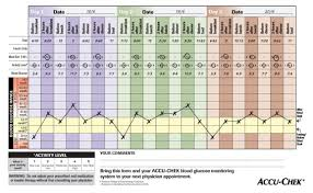 Accu Chek 360 View 3 Day Profiling Tool Blood Glucose