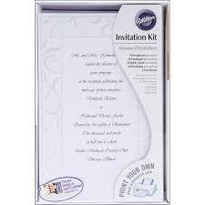 wilton print your own invitations kit elegant swirls 50 ct 1008 174 walmart