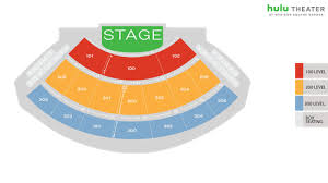 Hulu Seating Chart Hulu Theater At Msg Seat Map Msg Official Site