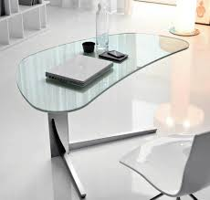 Fabulous Home Office Decoration Design With Ikea Glass Desks Interior Ideas  : Simple And Neat Home