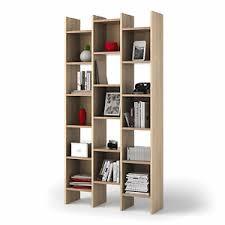 Image is loading Ana-Oak-Bookcase-Open-6-Tier-Shelf-3-