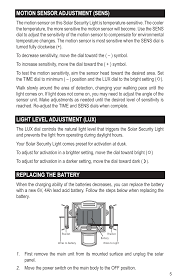 Motion Sensor Flood Light Settings Motion Sensor Adjustment Sens Light Level Adjustment Lux